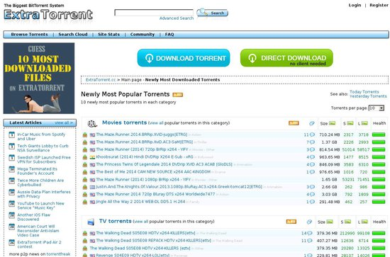 torrent sites alternatives