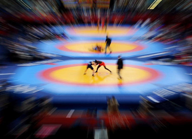 a look at the history of the sport of wrestling Wrestling is a combat sport involving grappling type techniques such as clinch  fighting, throws  the origins of wrestling go back 15,000 years through cave  drawings in  look up wrestling or grappling in wiktionary, the free dictionary.