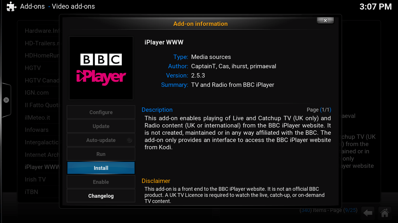 Watch BBC News on Kodi with BBC iPlayer