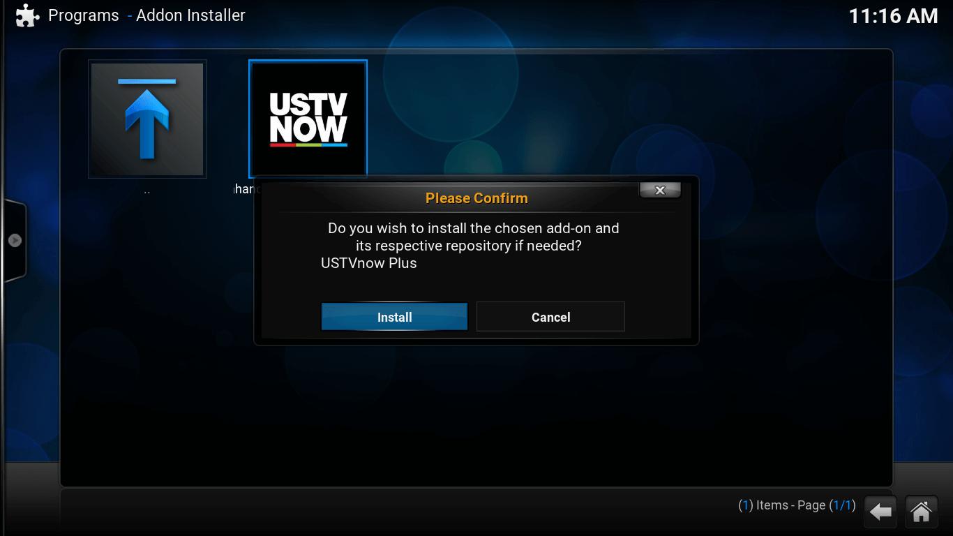 Install USTVnow Plus addon on Kodi
