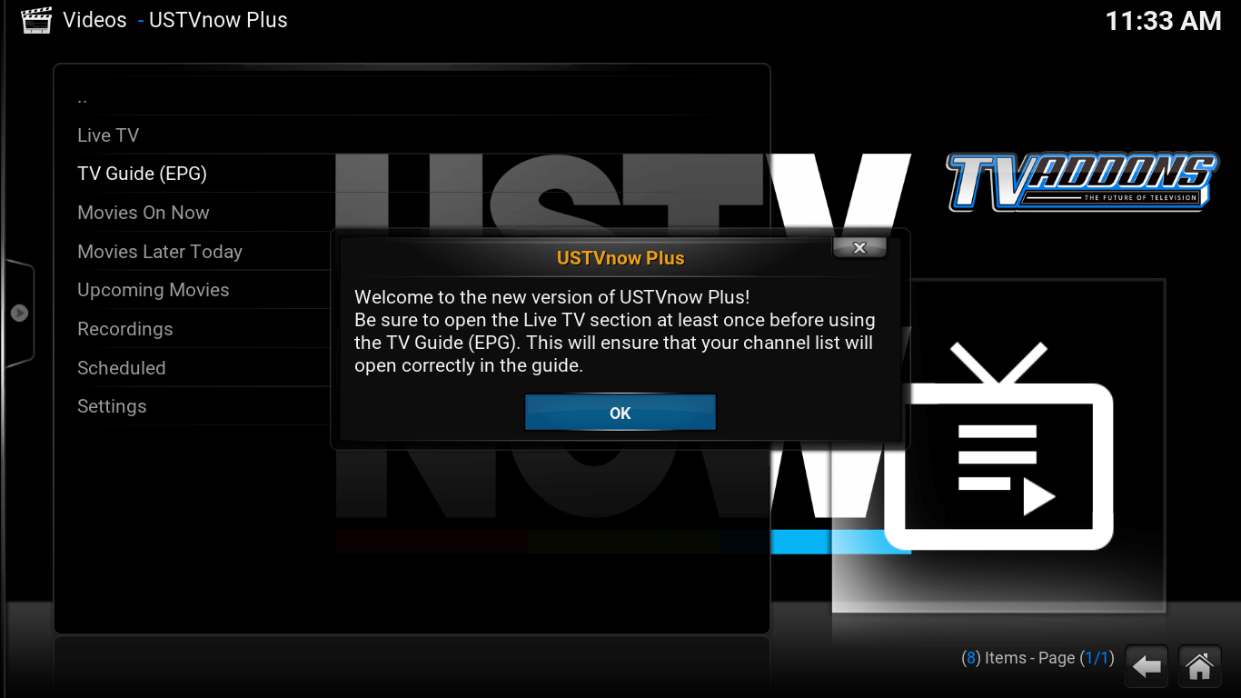 Videos - USTV Now Plus screen
