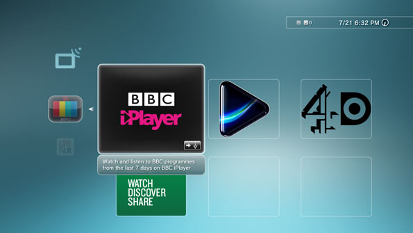 Watch BBC One on PS3