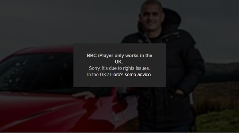 BBC iPlayer is only available in the UK
