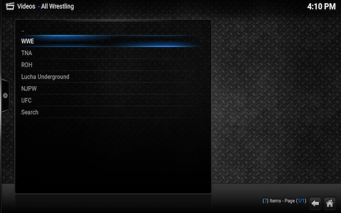 How To Install AllWrestling On Kodi