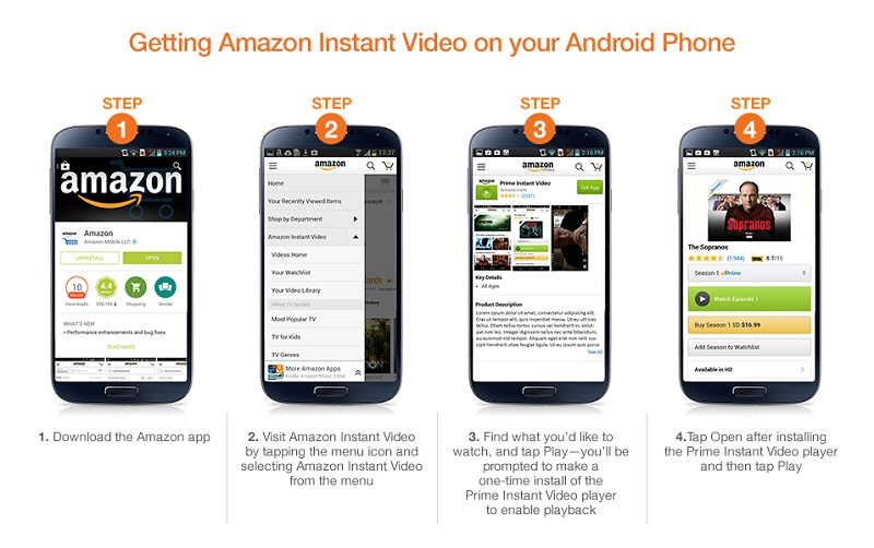 Can you watch amazon video on android