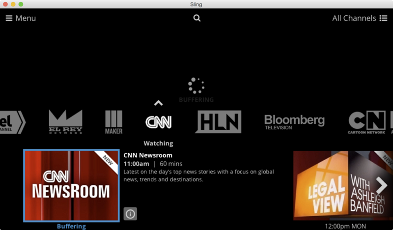 Watch Sling TV on Mac