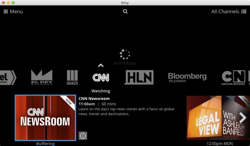 Watch Sling TV on Mac