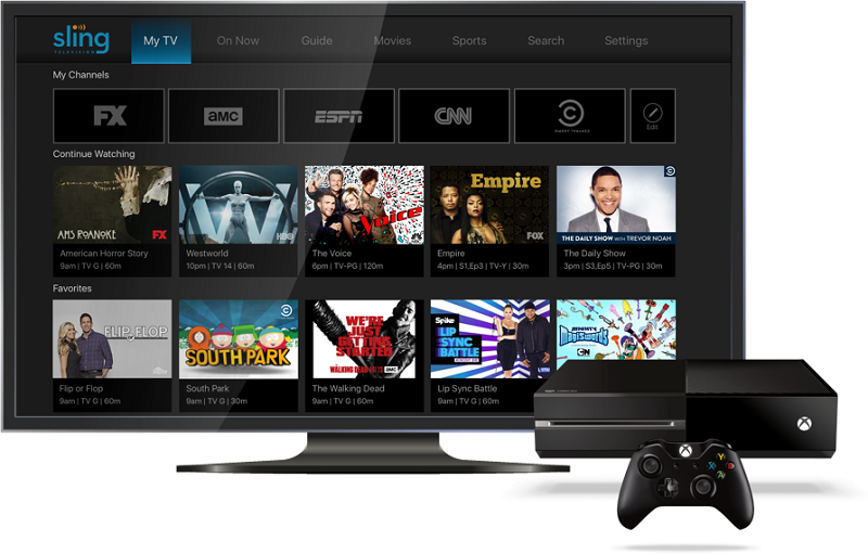 Watch Sling TV on Xbox One