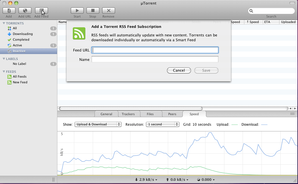 uTorrent client for mac