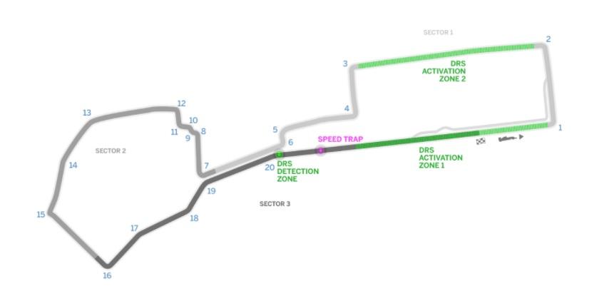 F1 Azerbaijan Map