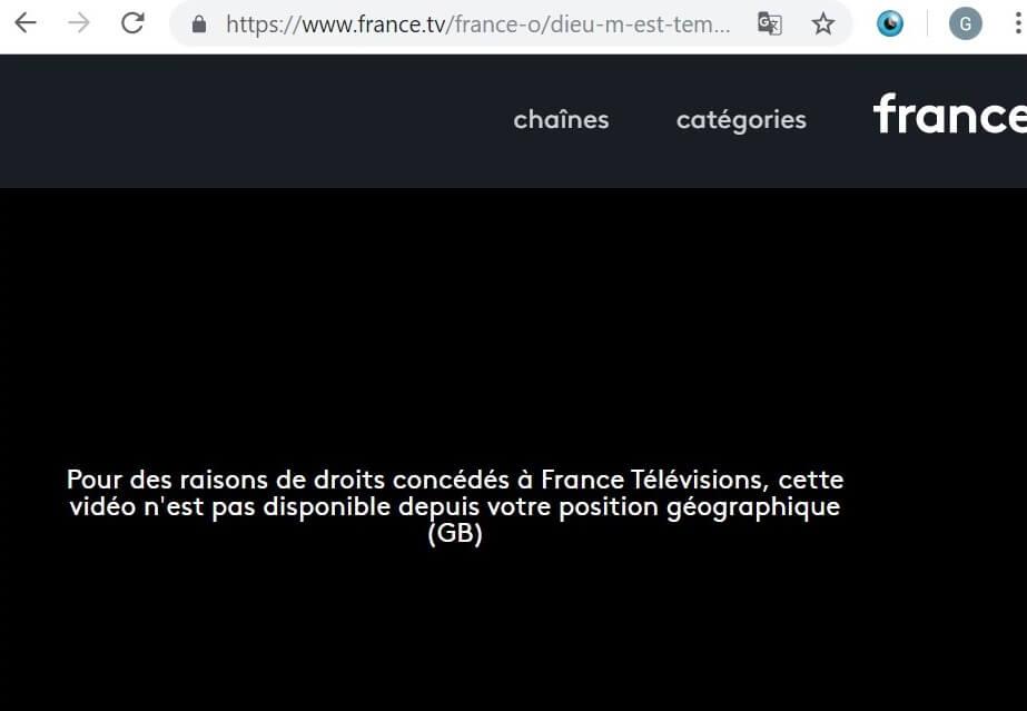 france TV error